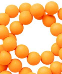 Acryl kralen mat 8mm Oranje tangerine
