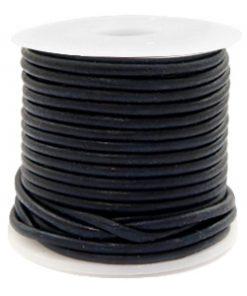 DQ leer rond 2 mm Dark navy blue