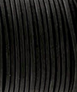 Leer 2mm rond zwart