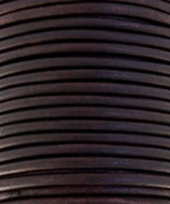 Leer 2mm rond donkerbruin