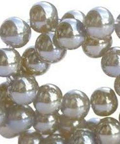 DQ glaskraal Olijf Opaque 6mm