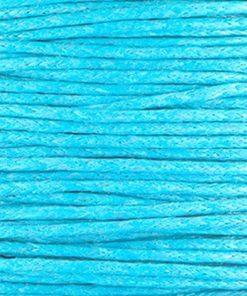Waxkoord 1mm Turquoise (1M)