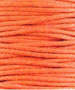 Waxkoord 2.0mm Oranje (1M)