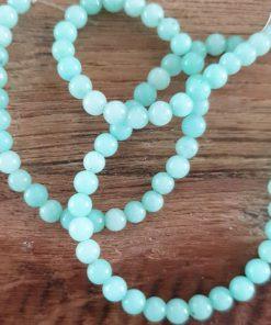 Natuursteen kralen Jade groen 4mm