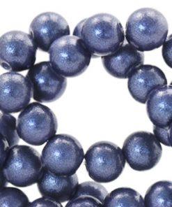 Glaskralen glitter dust Dark blue 8mm