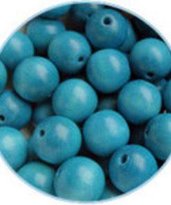 Houten Kralen Turquoise 10mm