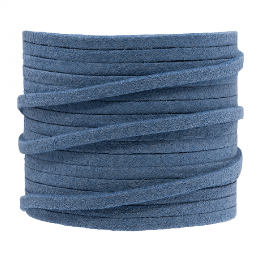 Faux suede 3mm Jeans blauw