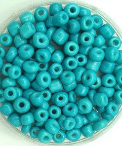 Glaskralen Rocailles 6/0 (4mm) Azure blue