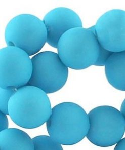 12mm acryl kralen matt Turquoise