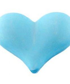 Acryl Kralen hartje mat 17x22mm Aqua blauw