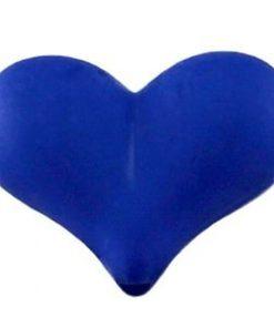 Acryl Kralen hartje mat 17x22mm Kobalt blauw