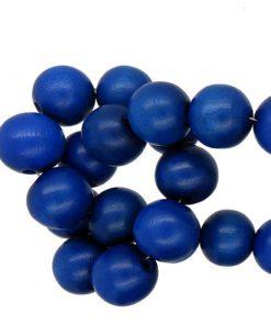 Houten Kralen Tropical delftsblauw 10mm