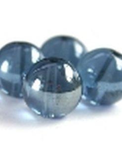 Glaskralen Montana blauw met glans 6mm