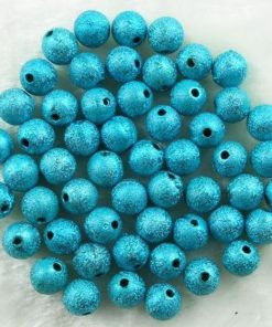 Acryl kralen stardust Turquoise 10mm