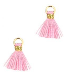 Mini kwastjes Ibiza style Goud-Roze