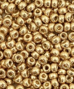 Miyuki rocailles 6/0 Duracoat galvanized champagne 6-4204
