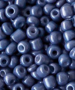 Glaskralen Rocailles 6/0 (4mm) Clematis blue