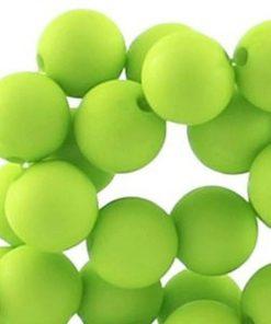 10mm acryl kralen matt Lime