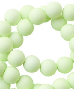10mm acryl kralen matt Lime green