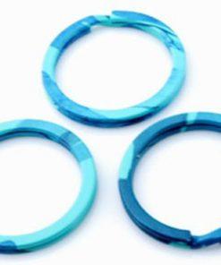 Metalen sleutelhanger ring blauw