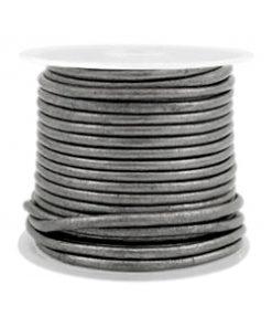 DQ leer rond 2 mm Horizon grey metallic