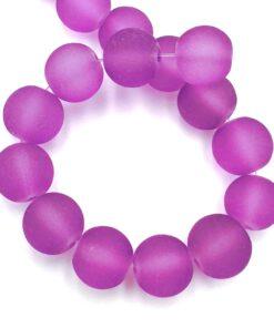 Glaskralen violet mat 10mm