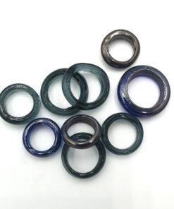 Glaskralen Blauw ring 12-13mm