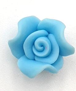 Fimo kraal roos Aqua 10mm