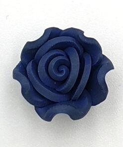Fimo kraal roos Donkerblauw grijs 15mm
