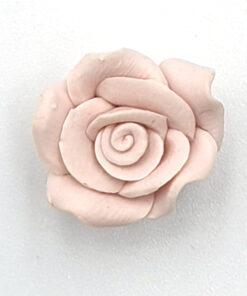 Fimo kraal roos Nude 15mm
