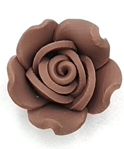 Fimo kraal roos Bruin 15mm