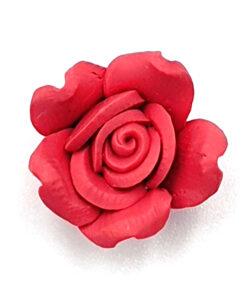 Fimo kraal roos Zacht rood 15mm