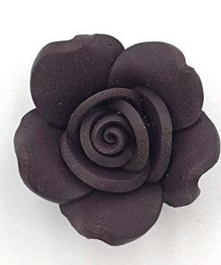 Fimo kraal roos Donkerbruin 23mm