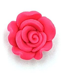 Fimo kraal roos Fluor roze 18mm