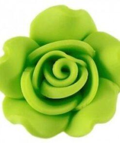 Fimo kraal roos Lime10mm
