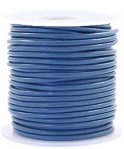 DQ Leer rond 2 mm Blauw